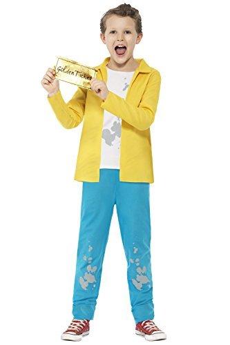 Bucket Kostüm Charlie - Smiffy's Offiziell Roald Dahl Charakter Maskenkostüm - Charlie Bucket, L