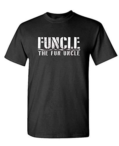 Funcle The Fun Uncle - Family Joke Funny - Mens Cotton T-Shirt XXL (Palme-touch-lampe)