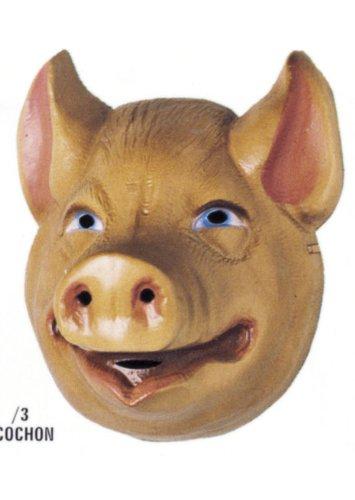 Cesar A523–001–Kostüm–Maske–Fabel von la Fontaine–Schwein