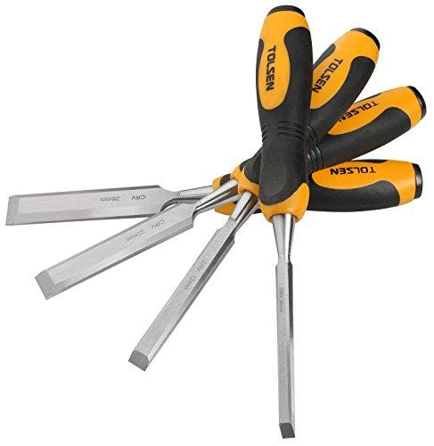 Tolsen hw06-vces – Kit 4 burins pour bois (8 mm x 12 mm x 20 mm 24 mm d'outils)