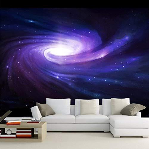 Preisvergleich Produktbild Xzfddn 3D Space Cloud Bild Galaxy Mond Constellation Wandbilder Tv Hintergrund Creative Foto Wallpapers Kinderzimmer Dekor Tapeten-350X250CM