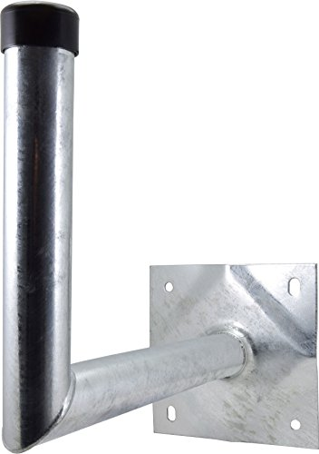 Satix Sat Wandhalter Stahl 30 cm Wandabstand für Satelliten-Schüssel, feuerverzinkt