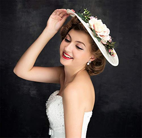 Europäische und amerikanische Fascinatorv White Lace Vintage handgemachte Hut Hochzeit Zubehör
