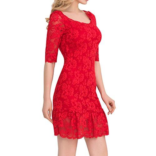 Valin Ov1046 Damen Abendkleid Rot
