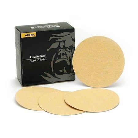 Mirka Abrasives 23-352-080 Mirka 23 Series Gold 8 Heavy Duty Disc, P80-Grit, E-Weight Backing by Mirka Abrasives - P80-serie
