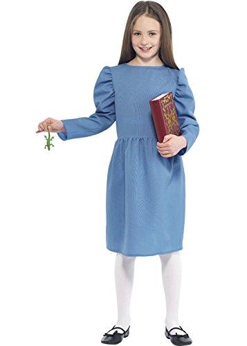 tilda-Kostüm zum Roman von Roald Dahl, Gr. L (10–12Jahre) (Roald Dahl Matilda Kostüm)