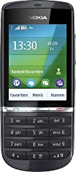 Nokia Asha 300 Mobile, Handy (6,1 cm (2,4 Zoll) Display, Touchscreen, 5 Megapixel Camera) Graphite - Black Color