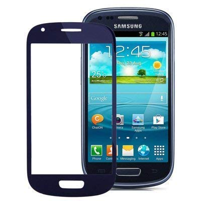 Austausch Touch LCD Front Glass Panel Scheibe für Samsung Galaxy S3 Siii Mini Display Glas Blau ()