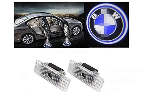 Willkommens Licht,1 Paar LED-Höflichkeits-Lichter Einfache Installation Autotür Laser Projektor Logo Geist Schatten beleuchtet 1 Led-laser