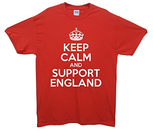 Keep Calm and Support England T-Shirt Rot