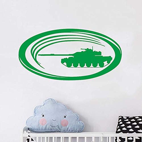 Wandaufkleber Vinyl Military Funny Tank Selbstklebende Kinder Schlafzimmer Wandaufkleber Wandbilder Home Art Dekoration Poster grün 59 cm X 29 cm -
