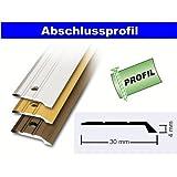 Abschlussprofil zum Schrauben extra breit 100x3 cm in Alu gold