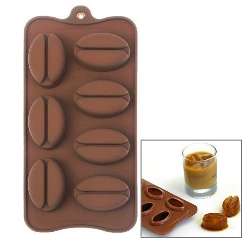 Eiswürfelform / Eiswürfelschale aus Silikon / Lustige Eiswürfel - Kaffebohne Bohne Sambuca Style 7er Form Eis-block-maker