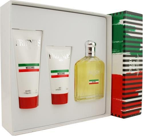 MOSCHINO Friends by Gift Set - 4.2 oz Eau De Toilette Spray +1.7 oz After Shave Balm + 3.4 oz Shower Gel / - (Men)