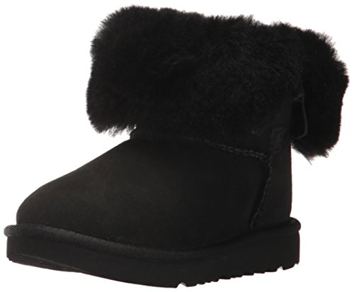 UGG Girls T Bailey Button II Fashion Boot, Black, 9 M US Toddler