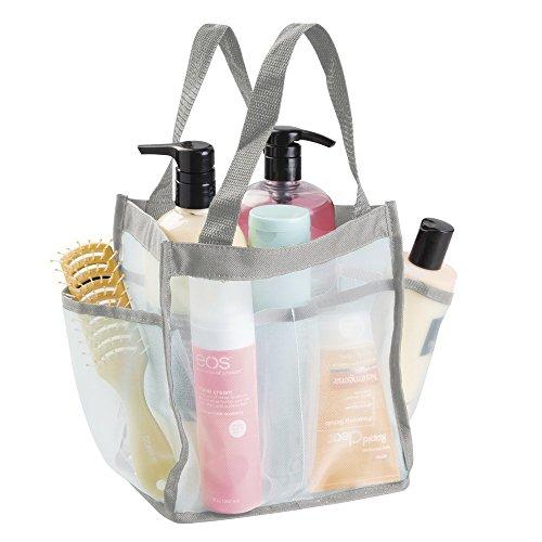 mDesign wasserdichte Tasche aus Canvas/Netz - wasserabweisende