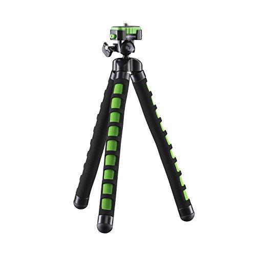 Mantona kaleido Flex leichtes Flex Stativ (mit hochwertigem 360° Kugelkopf, geeignet für Digital und Videokameras, Smartphones und Action Cams) lime green