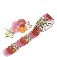 WINOMO Pegamento enmascaramiento adhesivo Cinta adhesiva pétalos de flores para Scrapbooking Craft DIY (Daisy)