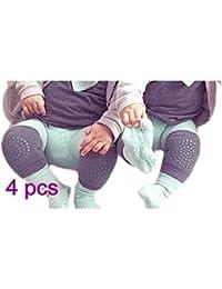 WeiMay Bébé Genouillères Anti-Dérapant Rampant Protecteur réglable élastique Kneepad Crawling Safety Protector -4 Paire Vert