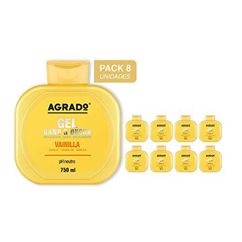 Gel Baño Ducha Vainilla Agrado 750 ml - Pack 8 unidades