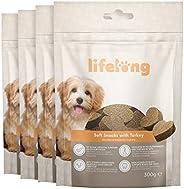 Amazon-Marke: Lifelong - Hundeleckerli, reich an Protein mit Truthahn (4 Packungen x 300gr)