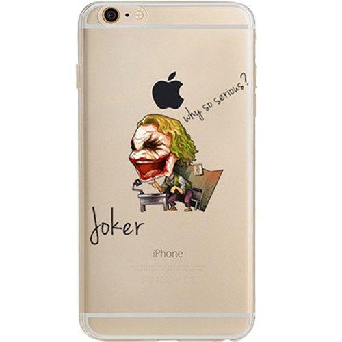 Batman, Catwoman, Joker, Harley Quinn, Iron Man, Captain America, Spider Man, The Hulk, Thor, Deadpool Jelly Clear Case für Apple iPhone 6/iPhone 6S (11,9cm), Joker