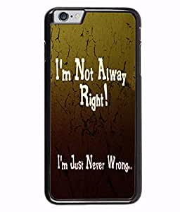 Fuson 2D Printed Quotes Designer back case cover for Apple iPhone 6 - D4538