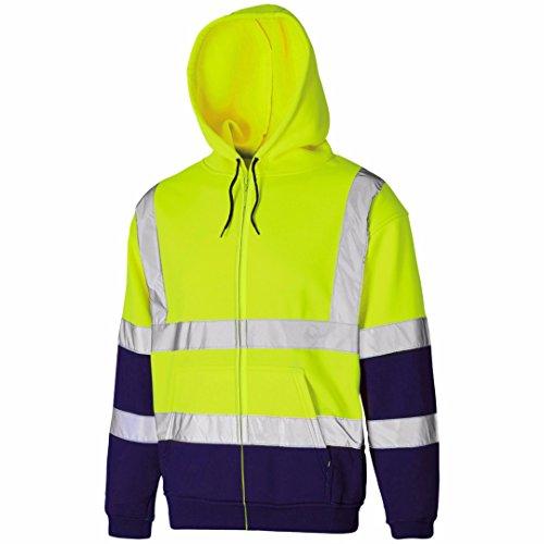 MYSHOESTORE - Manteau - Uni - Manches Longues -  Homme Yellow Navy / Zip Up