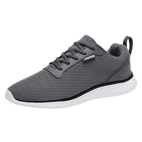 Luckycat Schuhe der Männer Bequeme beiläufige Schuhe atmungsaktive rutschfeste Turnschuhe Laufschuhe Atmungsaktiv Gym Turnschuhe Freizeit Schnürer Sportschuhe Sneaker