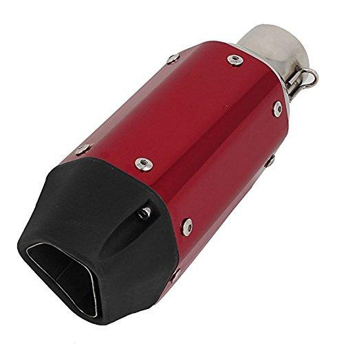 Ocamo Silenciador hexagonal corto de acero inoxidable para moto (incluye piezas de...