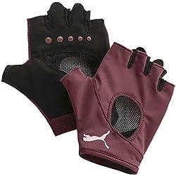 PUMA At Gym Gloves Guantes, Mujer, Vineyard Wine, S