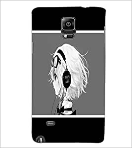 PrintDhaba Music Girl D-1367 Back Case Cover for SAMSUNG GALAXY NOTE 2 (Multi-Coloured)