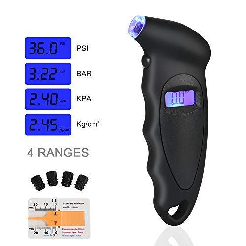 URAQT Manómetro Digital para Neumáticos, Manómetro Electrónico de Neumáticos, Medidor de Presión...