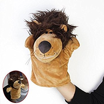 Kris Carpenter Tiere Zoo Learning Hilfe Löwe Kid Plüsch Velours Hand Puppets Farm (Farm Tier Stofftiere)