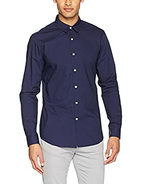 New Look Herren Businesshemd Washed Poplin
