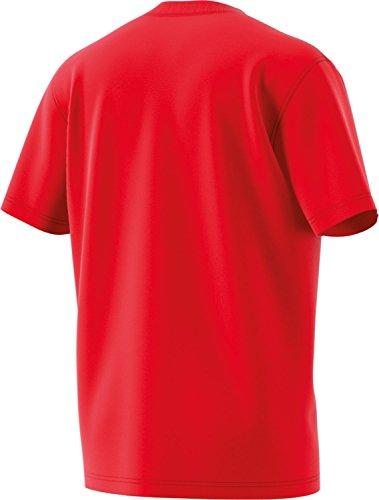 adidas Herren T-Shirt Trefoil Rot