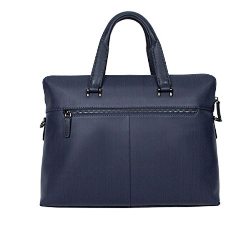 Mann-Geschäfts-Handtaschen-Geschäfts-Handtaschen-Leder-einfacher Aktenkoffer-Geschäfts-Satz-Computer-Beutel Blue