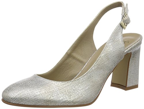 Noe Antwerp Damen Nirce Pump Pumps, Silber (Argento), 38.5 EU