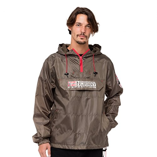 Geographical Norway Boogee, Abrigo Impermeable para Hombre, Verde Kaki Militaire, X-Large Tamaño...