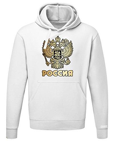 WM 2018 - POCCNR - RUSSLAND RUSSIA - HERREN UND DAMEN HOODIE Weiß