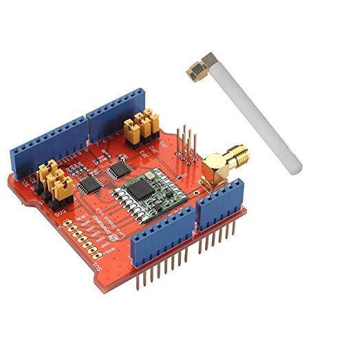 Dragino Lora Shield 868 MHz, RFM95W Wireless, Kompatibel mit Arduino UNO Mega 2560 Leonardo DUE, 3,3 V oder 5 V Geringer Stromverbrauch, Antenne IPEX Gps-antenne Kit