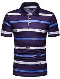 69362e67896 Wiltson Nuevo diseñador de Moda Contraste Multi-Rayas Casuales de los Hombres  Camisas Slim Fit Comodidad Suave Botón-diseño Camisa…