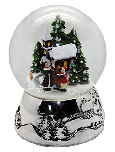 Minium Collection 20094 Schneekugel Romantischer Winterspaziergangt Winter & Weihnacht Silber-Sockel...