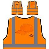 Casquette d'été sportive Veste de protection orange personnalisée à haute visibilité u420vo
