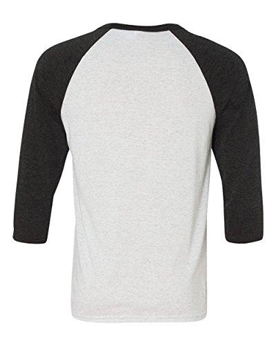 Bella+Canvas Triblend ¾ Sleeve Baseball t-Shirt White/Dark Grey S