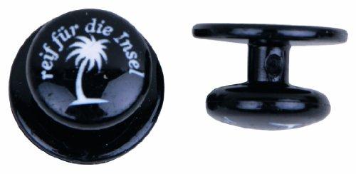 Exner Kochknöpfe Kugelknöpfe schwarz mit reif für die Insel (Insel-bekleidung)