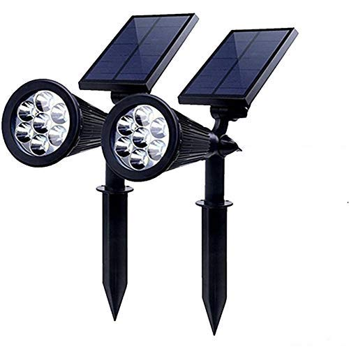 PowerKing Foco Solar LED Lámpara Exterior IP65 Impermeable Luces 7 Colores Cambia...