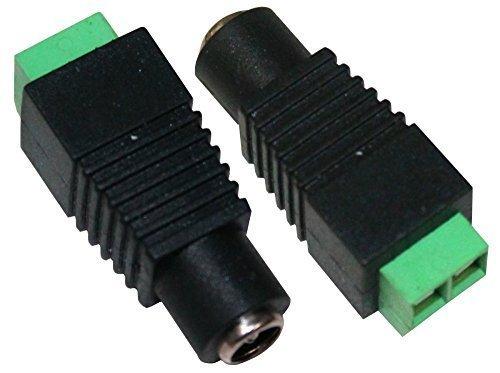 Aerzetix - Presa DC jack con connettore terminale femmina 2.1/5.5mm sorveglianza CCTV, illuminazione a LED. - Connettore Terminale