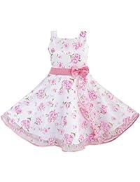 Mädchen Kleid 3 Schichten Rosa Blume Welle Festzug Hochzeit