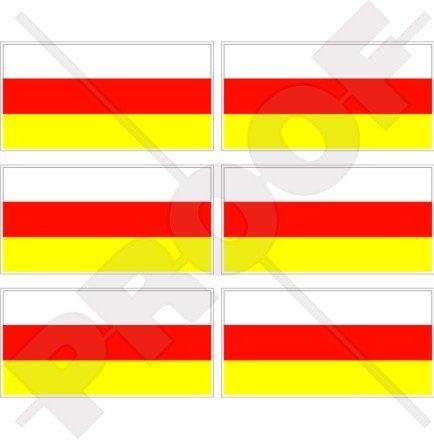 Südossetien ossetische Flagge 40mm (40,6cm) Mobile Handy Vinyl Mini Sticker, Aufkleber X6